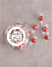 Thankful and Blessed Candy Jar