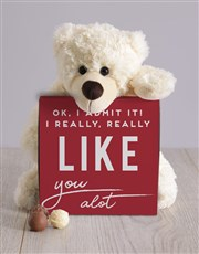 Personalised I Really Like You Teddy Hamper
