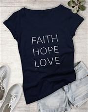 Ladies Hope And Love Shirt