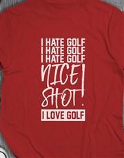 Nice Shot Golfer Shirt