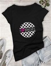 I Heart Birdies Golfing Shirt