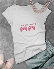 I Beat Boys Gaming Tshirt