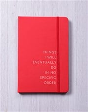 No Specific Order A5 Notebook