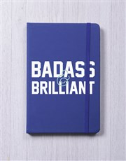 Badass and Brilliant A5 Notebook