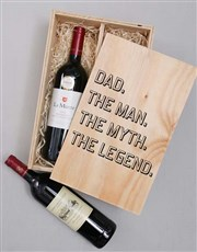 The Man The Myth Wine Duo Crate