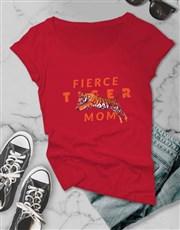 Fierce Tiger Mom Ladies T-Shirt