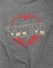 Cool Heart Tattoo Mom Ladies T-Shirt