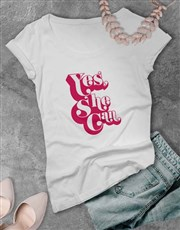 Yes She Can Ladies T-Shirt