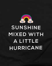Sunshine Mixed With A Hurricane Ladies T-Shirt