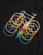 Colourful Bicycle Graphic T Shirt