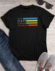 Eat Sleep Cycle Repeat T Shirt