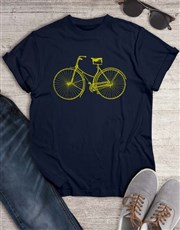 Front View Bicycle T Shirt