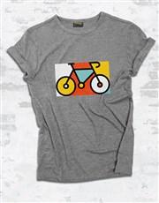 Bicycle Pop Art Ladies T Shirt