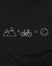 Cycling Is My Happy Place Ladies T Shirt