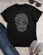 Skull Bicycle Graphic T Shirt