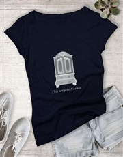 Door To Narnia Ladies T Shirt