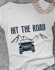 Ladies Hit the Road Jeep T Shirt