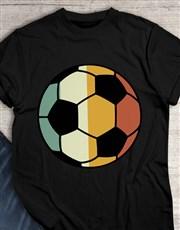 Vintage Colour Soccer Ball T Shirt
