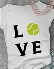 Love Tennis Ladies T Shirt