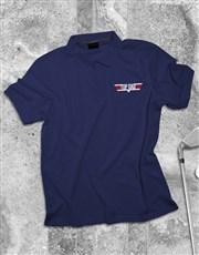 Top Dad Printed Polo Shirt