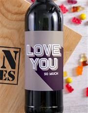 Love You Wine Man Crate