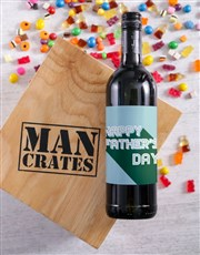 Fathers Day Wine Man Crate