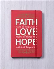 Faith Hope Love A5 Notebook