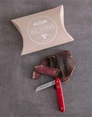 Red Victorinox Biltong Knife