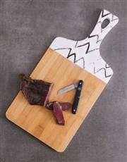 Biltong Knife and Chopping Board Hamper