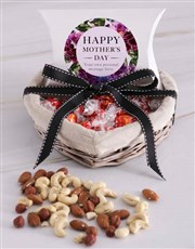 Personalised Mothers Day Choc and Nut Basket