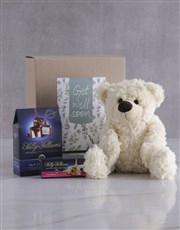 Get Well Teddy and Nougat Gift Hamper