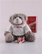 Number 1 Mom Teddy And Lindt Hamper