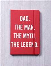 Dad Myth Legend A5 Notebook