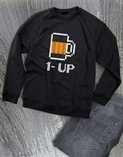 One Up Beer Graphic Sweatshirt