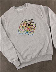 Cyber Graphic Cycling Sweatshirt