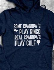Real Grandpas Play Golf Hoodie