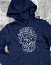 Bicycle Skulls Hoodie