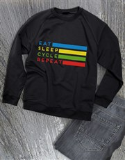 Eat Sleep Cycle Repeat Sweatshirt