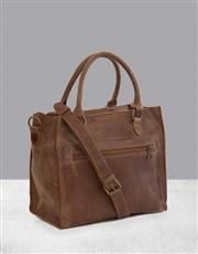 Zemp Bastille Waxy Tan Handbag
