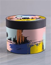Abstract Sorry Hat Box