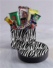 Zebra Print Hat Box