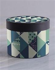 Shades of Blue Hat Box