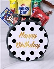 Polka Dot Birthday Hat Box