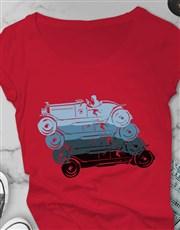 Retro Colourful Ladies T Shirt