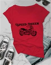Speed Queen Motocycle Ladies T Shirt