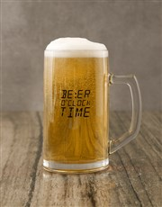 Beer O clock Biltong Nuts and Beer Glass Gift