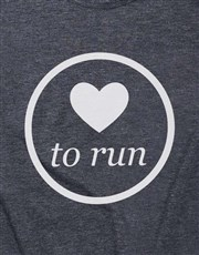 Love To Run Ladies T Shirt