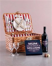 One In Million Wine And Chocolate Combo In Basket