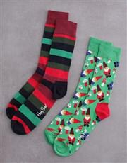 Happy Socks Candy Cane Festive Cracker