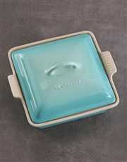 Le Creuset Cool Mint Square Heritage Dish with Lid